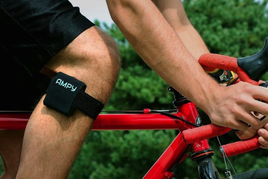 AMPY portable charger generating power while cycling