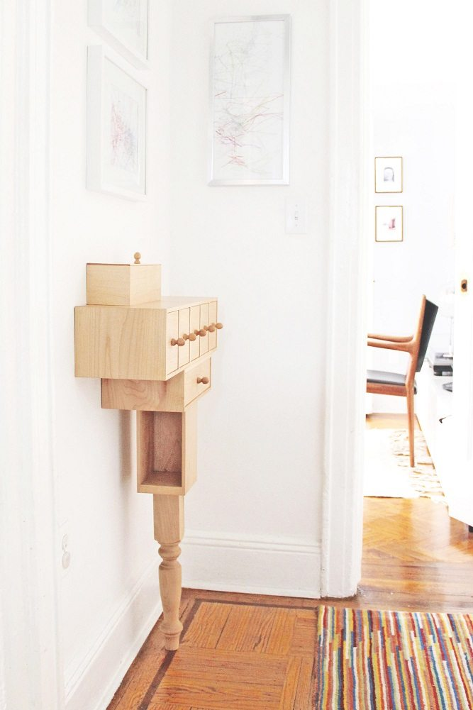 Bedside Console with Leg by Pelle