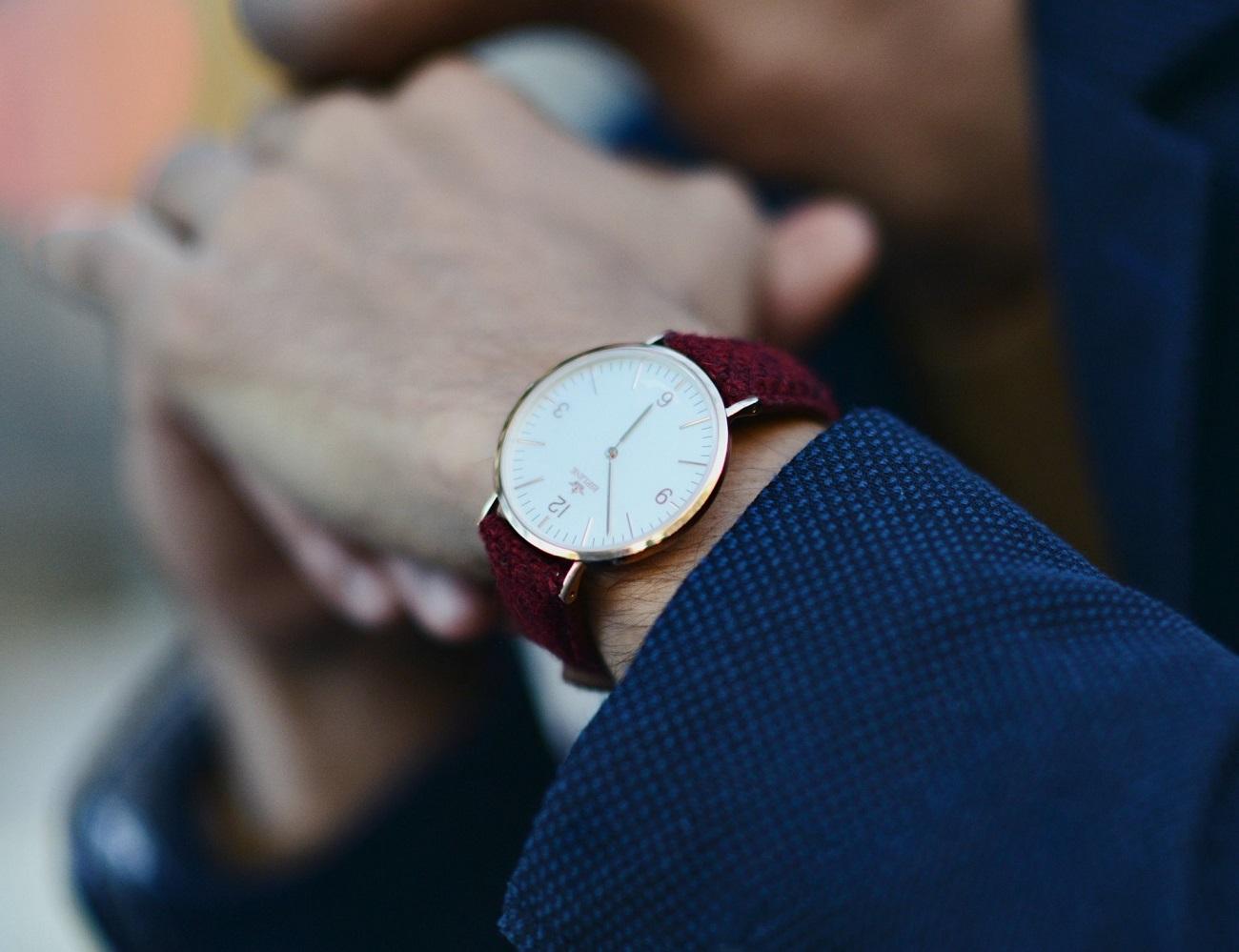 Birline+Watches+With+Harris+Tweed+Straps