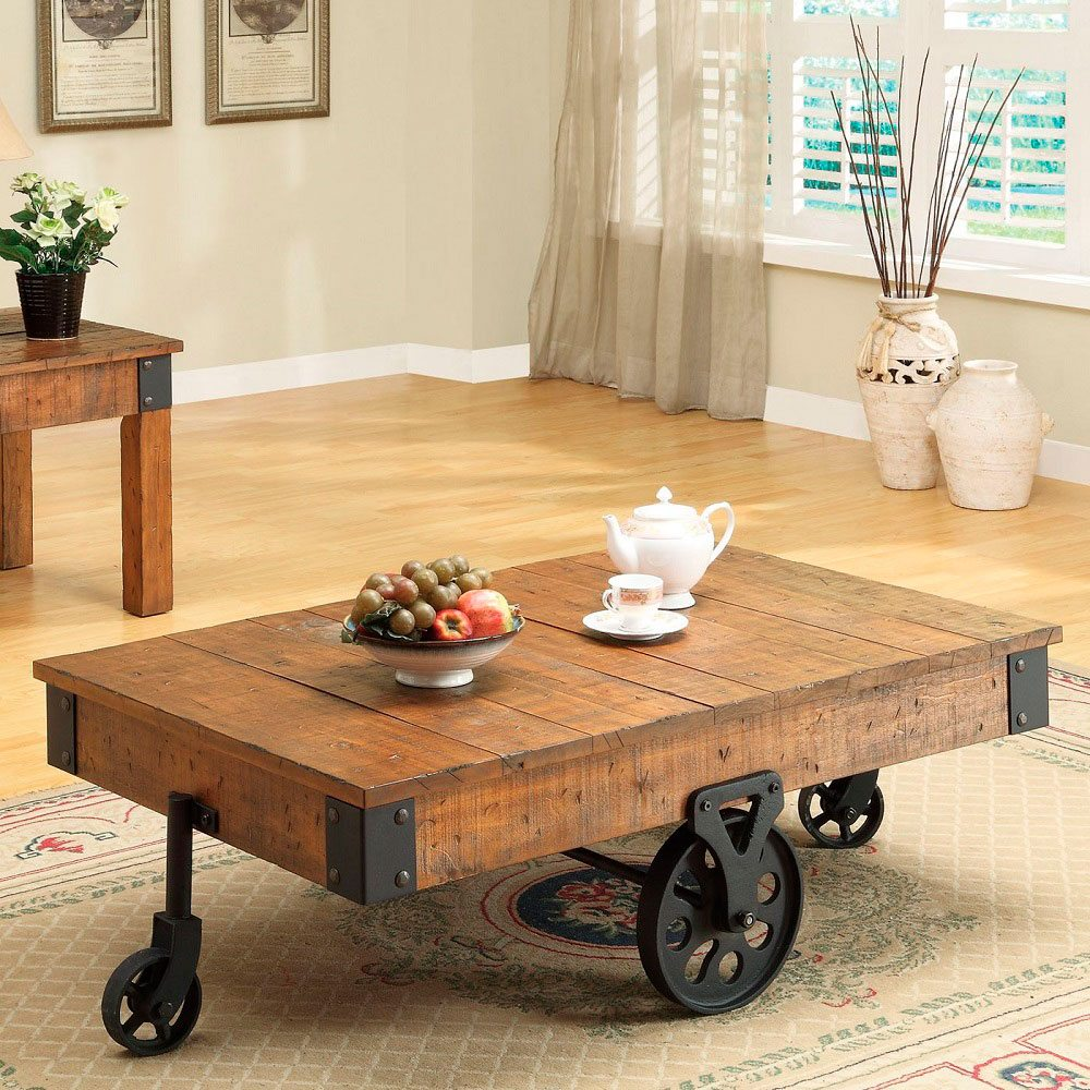 Coaster Country Style Coffee Table Gadget Flow
