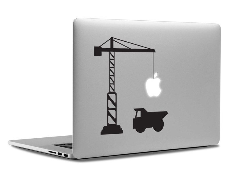 Construction Site Macbook Decal