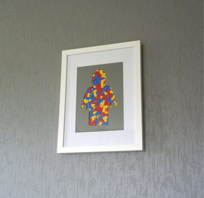 Frame Silhouette Of A Minifig In Lego Pieces