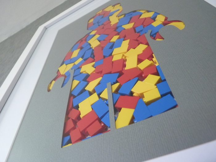 Frame Silhouette of a Minifig in LEGO Pieces decorates your space like no other