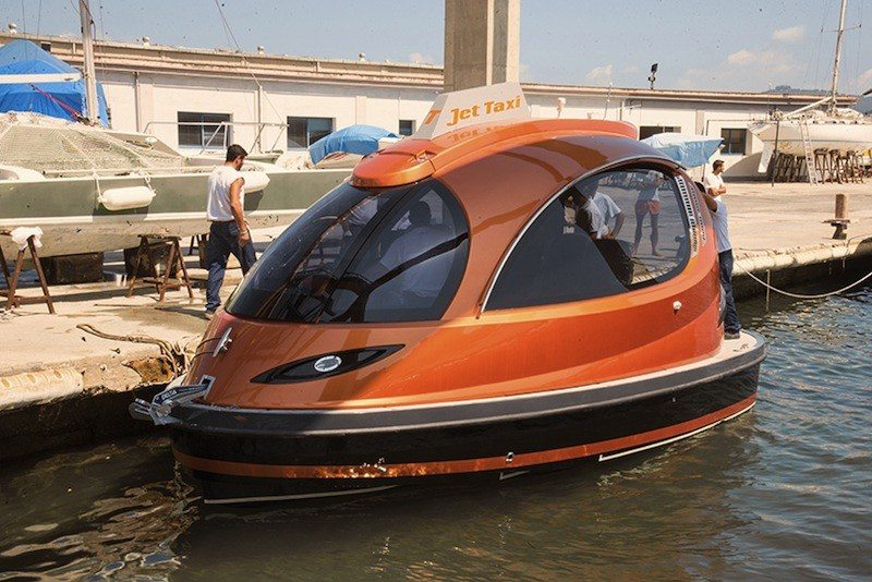 Jet Capsule taxi waiting to pick up passengers