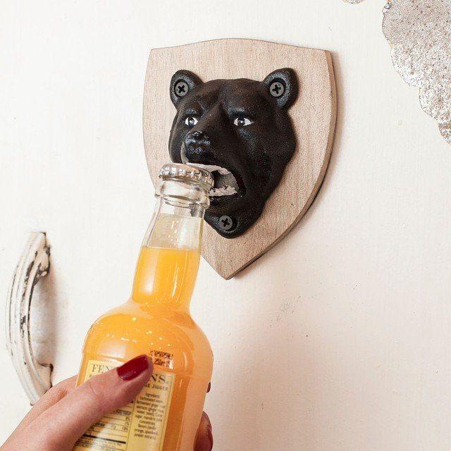 Magnetic+Bear+Bottle+Opener