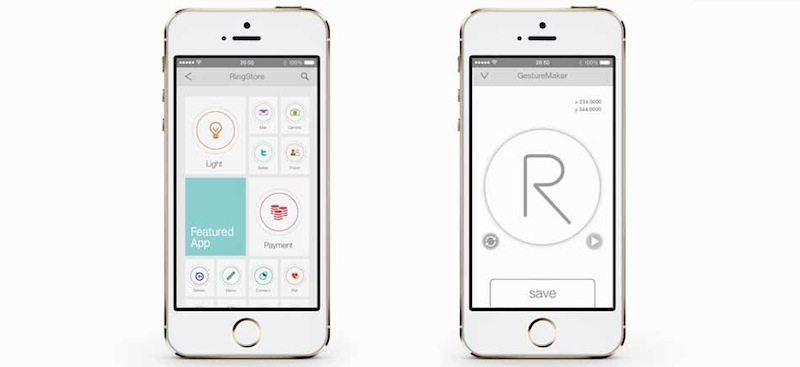 Logbar Smart Ring app and save gesture function