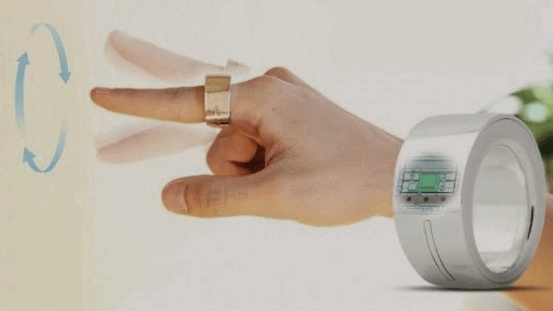Logbar Smart Ring movement in circular motion