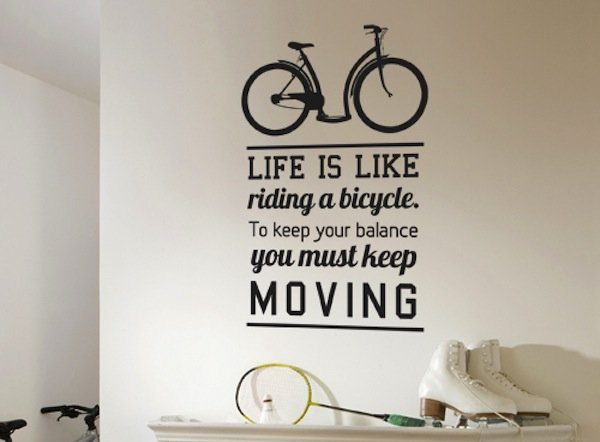 Inspirational Wall Decal Quote Bicycle Ride