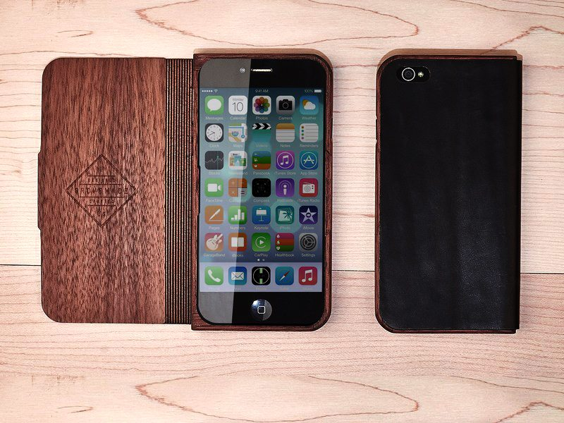 Wood and Leather Case for iPhone 6