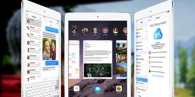 Apple iPad Air 2 with iOS 8