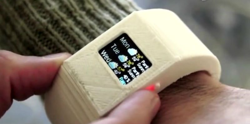 Image of TinyScreen being used as a smartwatch