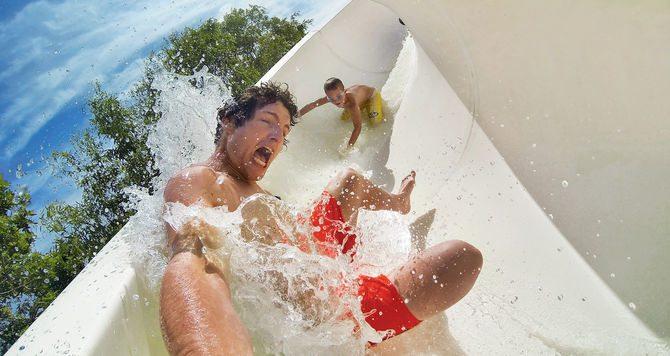 GoPro Black in water