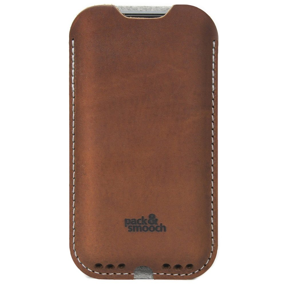 iPhone 6/6s Case – 100% Wool Felt, Vegetable Tanned Leather loading=