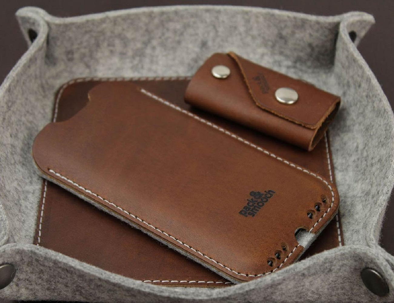 IPhone+6%2F6s+Case+%26%238211%3B+100%25+Wool+Felt%2C+Vegetable+Tanned+Leather