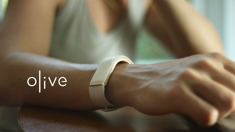 Image of olive bracelet on someone's wrist