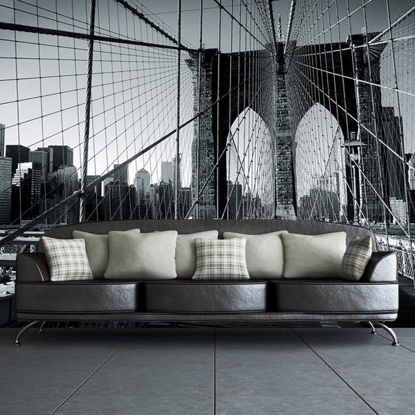 Brooklyn Bridge Black And White Wall Mural Of Brooklyn Bridge Wall Mural Review The Gadget Flow