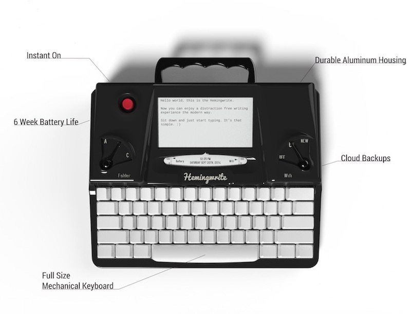 Hemingwrite digital typewriter specs