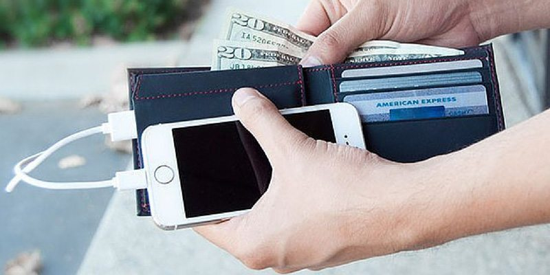 Phone Charging Leather Wallet