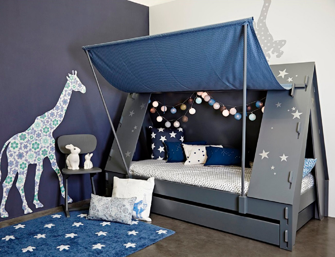 Kids Tent Cabin Canopy Bed Gadget Flow