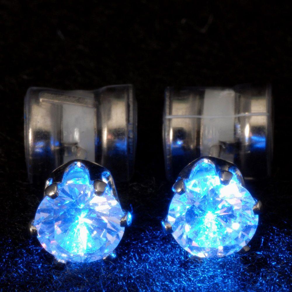 Night Ice Led Crystal Earrings