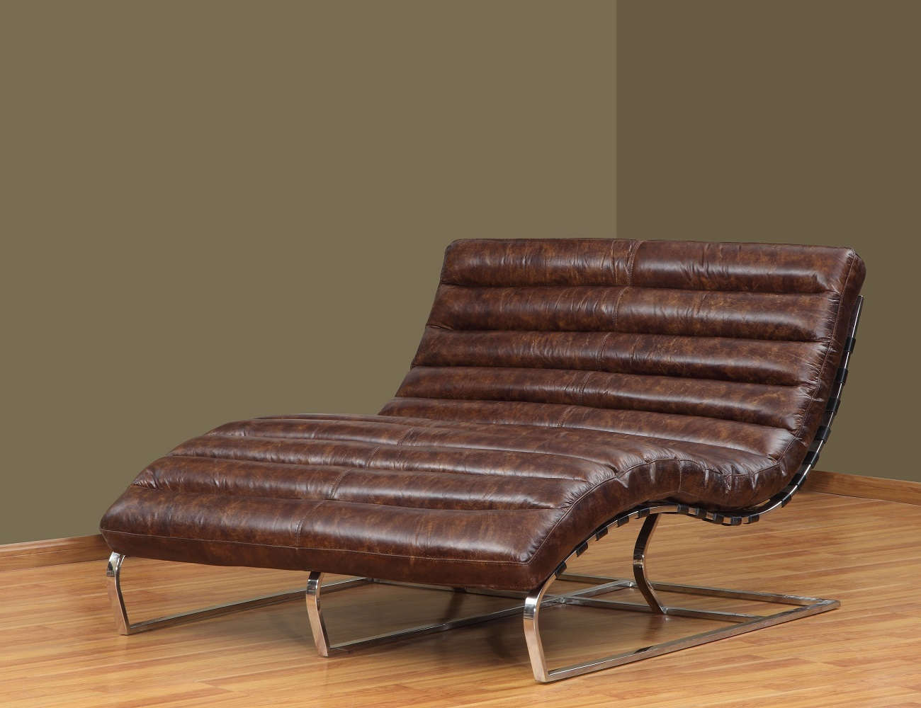 Oviedo Leather Double Wide Chaise 187 Gadget Flow