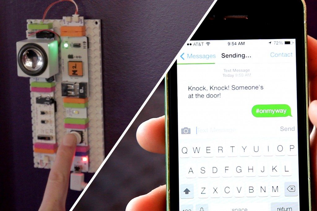 littleBits doorbell alert