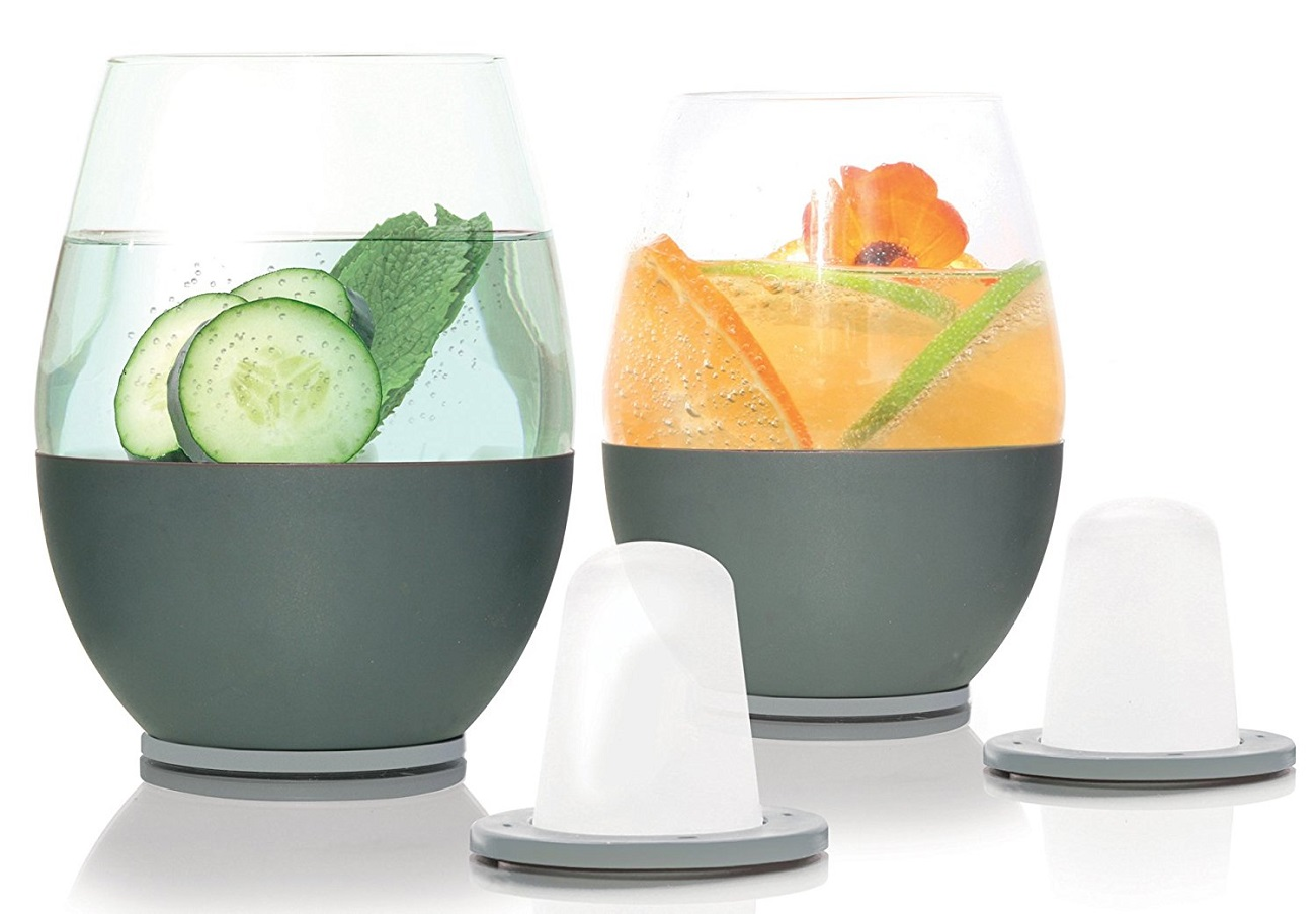 Self-Chilling Cocktail Glasses