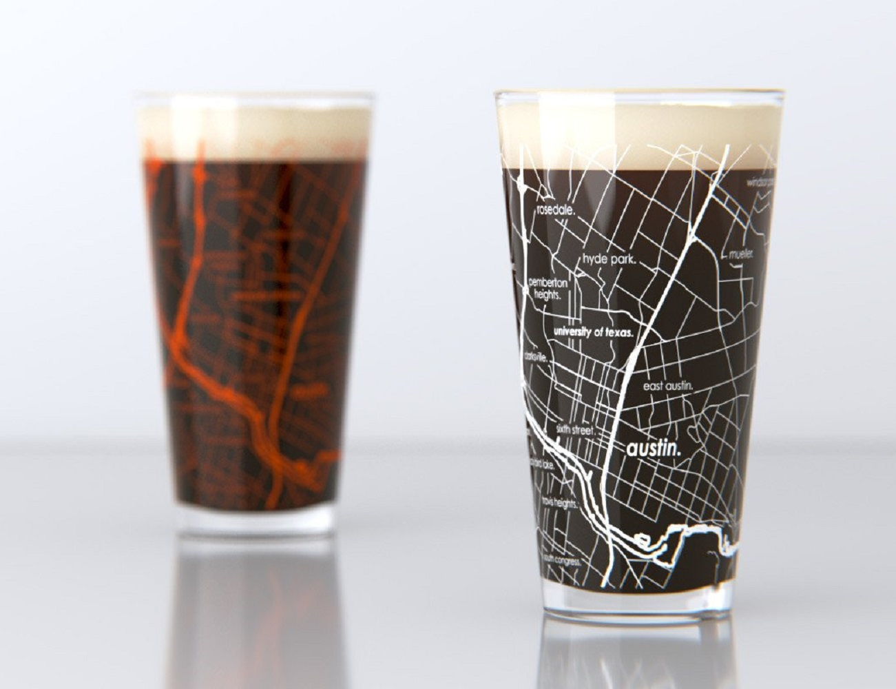 Street Map Pint Glasses