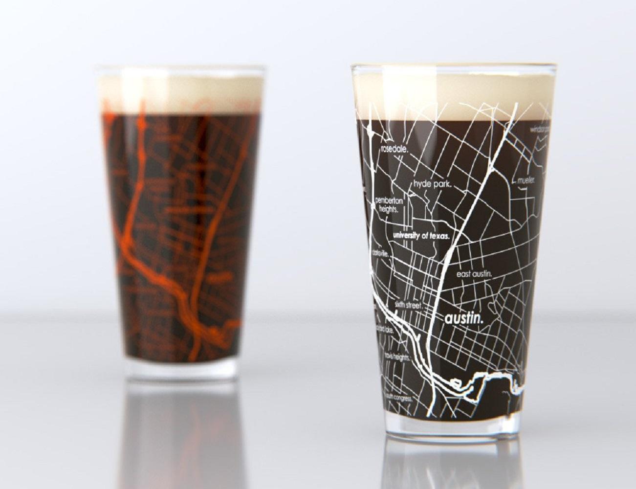 Street Map Pint Glasses