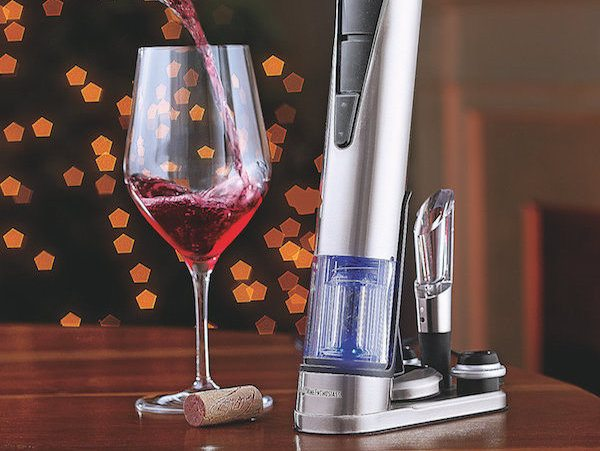 Electric Blue 1 Wine Opener & Preserver Set