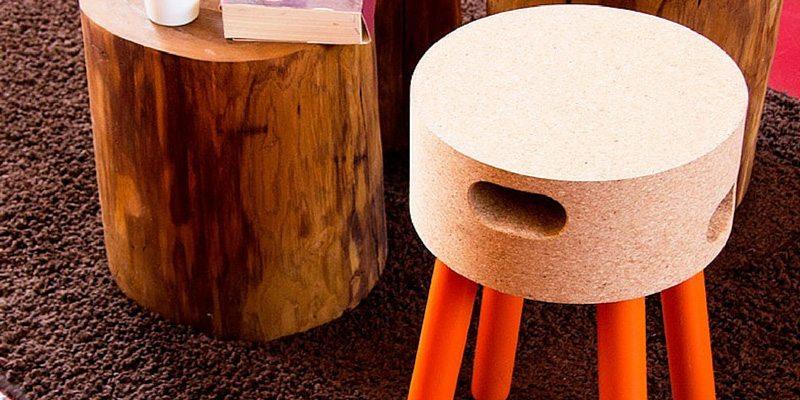 Cork Stool by Pip Eco