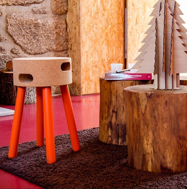 Cork Stool by Pip Eco
