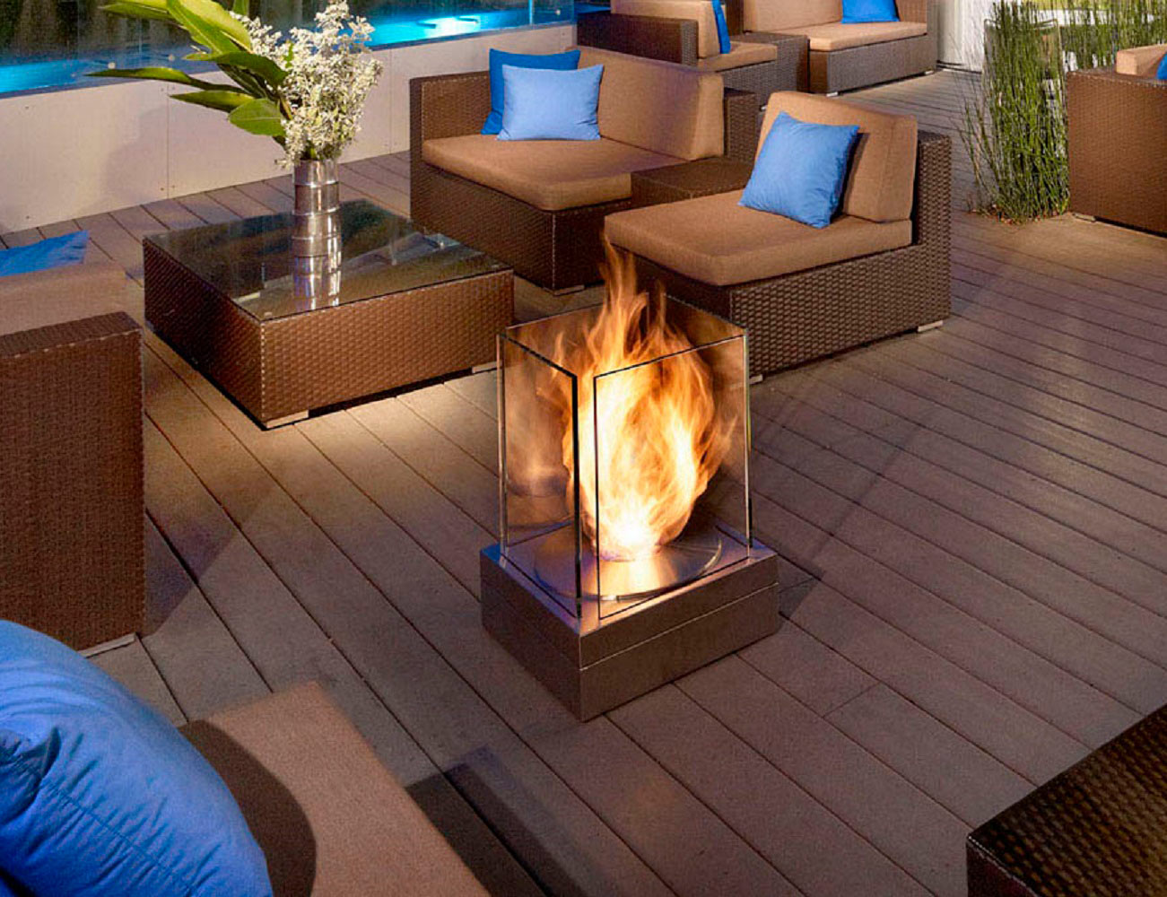 EcoSmart Fire Mini T Ventless Outdoor Fireplace