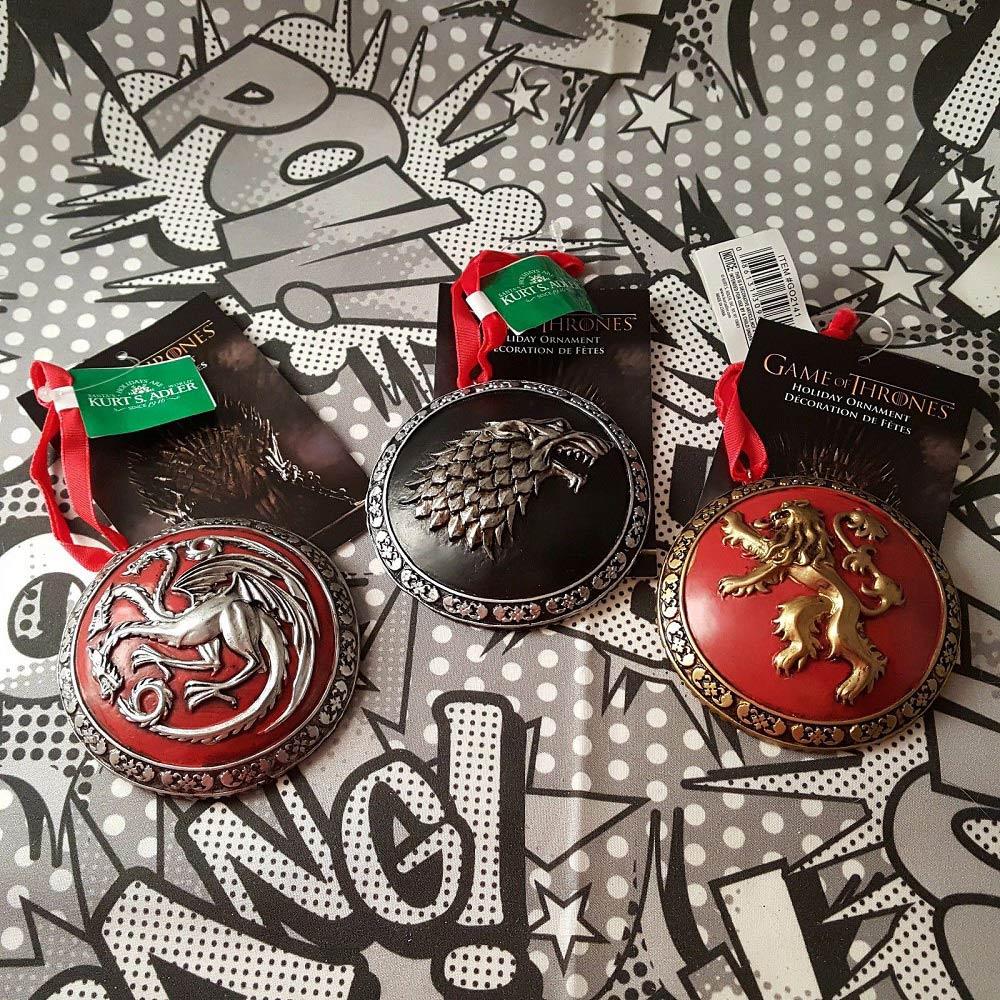 Game of Thrones Sigil Ornament Set