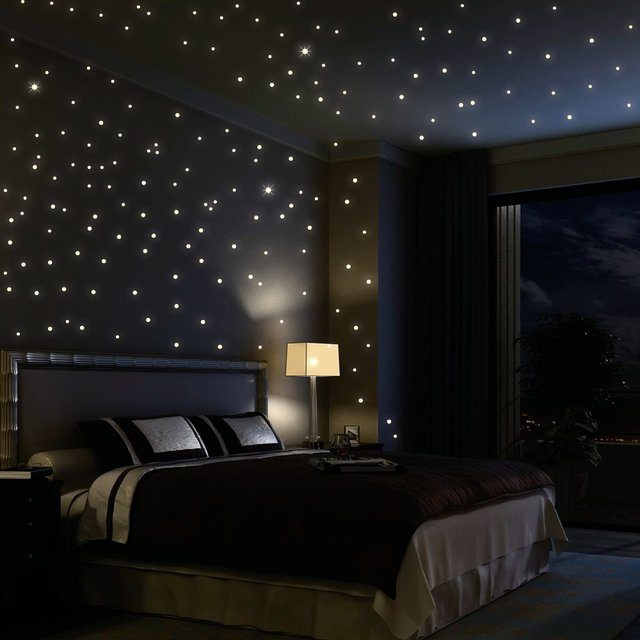 glow in the dark stars stick wall decals from fuloon aliexpress com buy 100pcs pack luminous stars wall