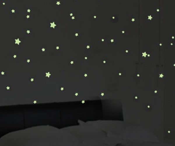 Glow In The Dark Stars Stick Wall Decals From Fuloon