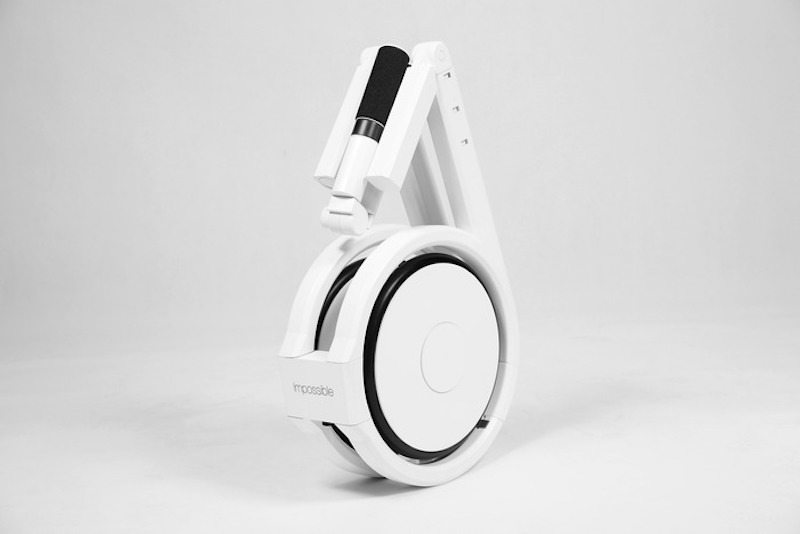 The Impossible electric bike folded 17 inches