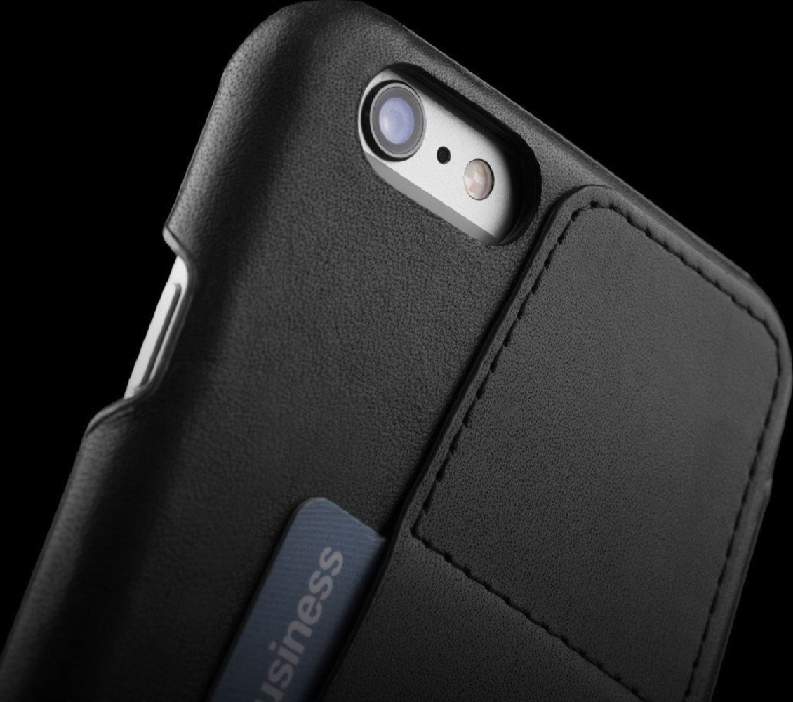 Leather Wallet Case 80° for iPhone 6 – Black