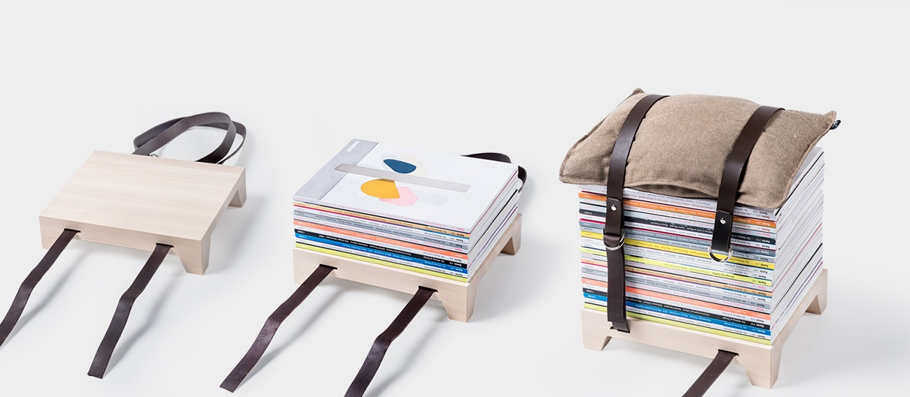 Magazine Stool by Njustudio