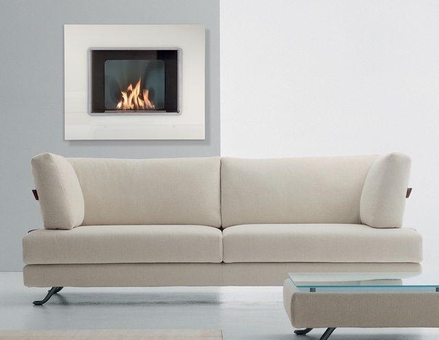Masterpiece White Glass Fireplace