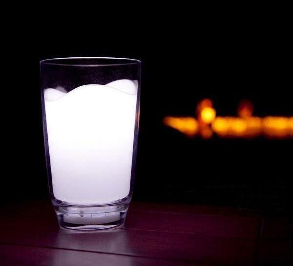 Milk Glass LED Night Light