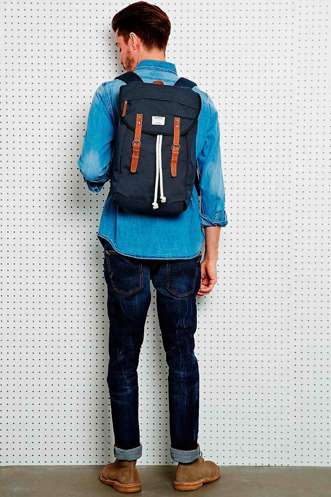 Multi Blue Canvas Hans Backpack by Sandqvist