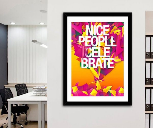 Nice People Celebrate Print by Danny Ivan