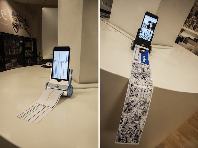 Printeroid on table printing paper
