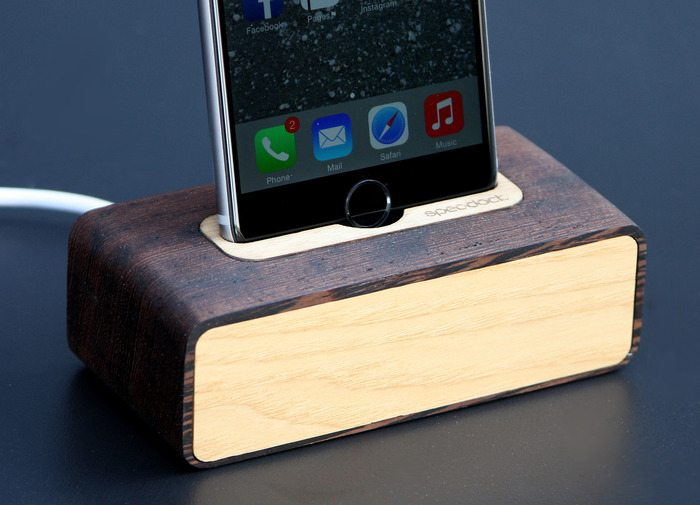 Spec.Dock – Heirloom quality wood docks for iPhone & Android