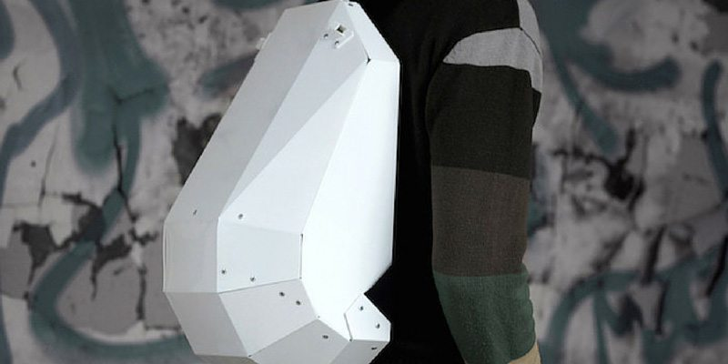 White - Black Backpack by Solid Gray