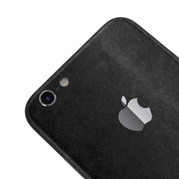iPhone 6+ Black Leather Full Body Wrap by SlickWraps