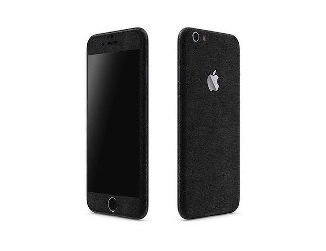 promo code c778a 0054a iPhone 6+ Black Leather Full Body Wrap by SlickWraps
