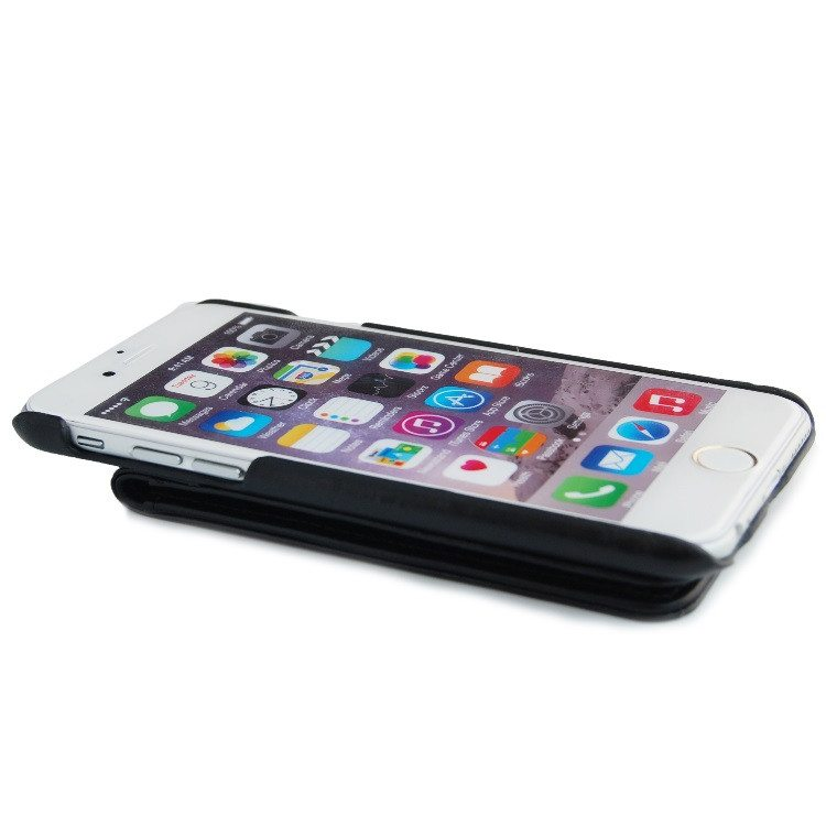 iPhone 6 Black Classic Genuine Leather Wallet Case