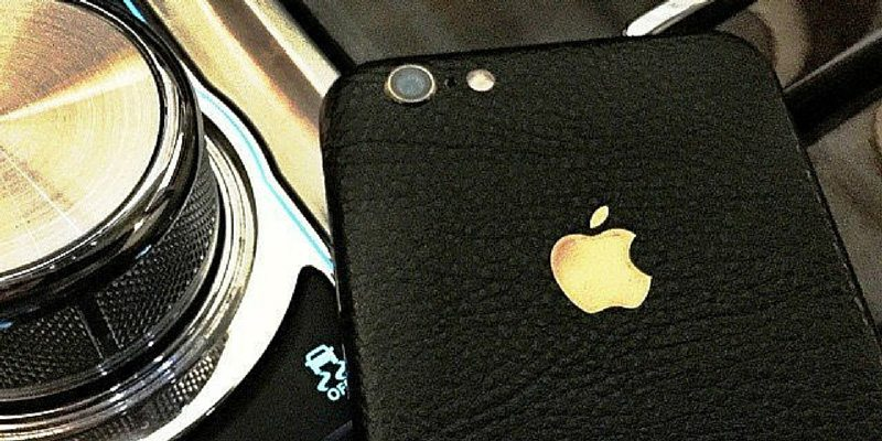 iPhone 6+ Black Leather Full Body Wrap